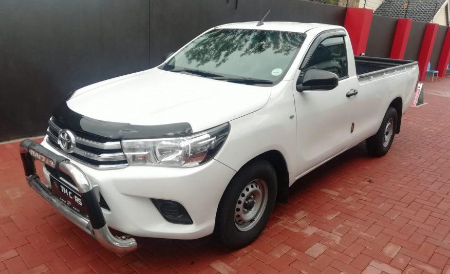 2018 Toyota Hilux 2.4 GD A/C Single Cab Bakkie